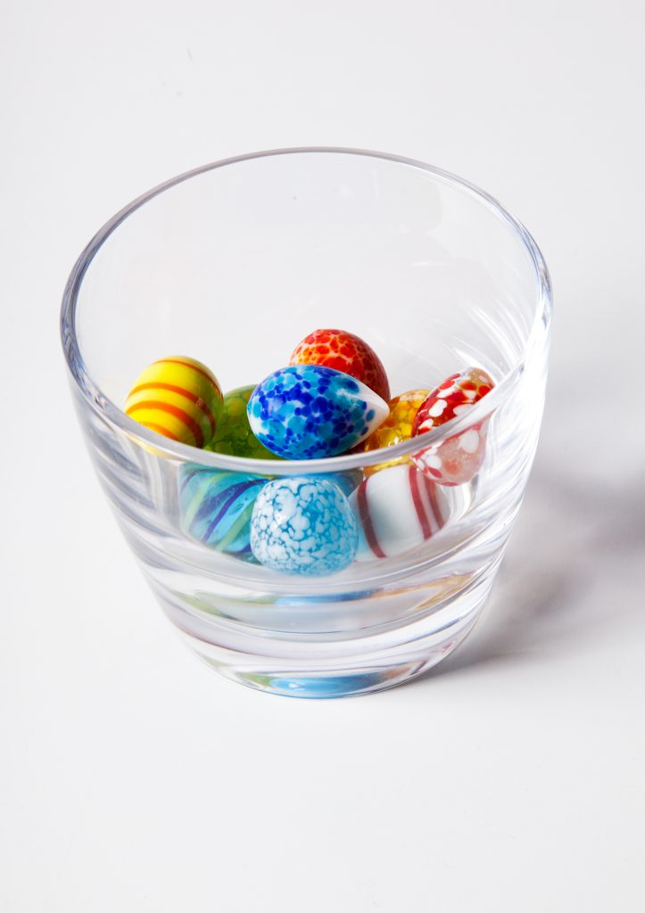 Marbles in glas