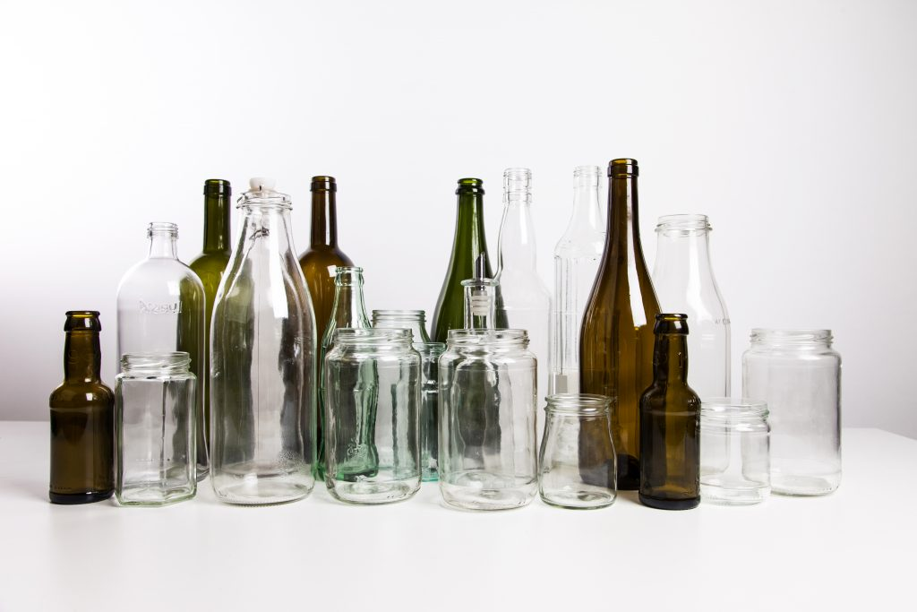 Glass bottle display